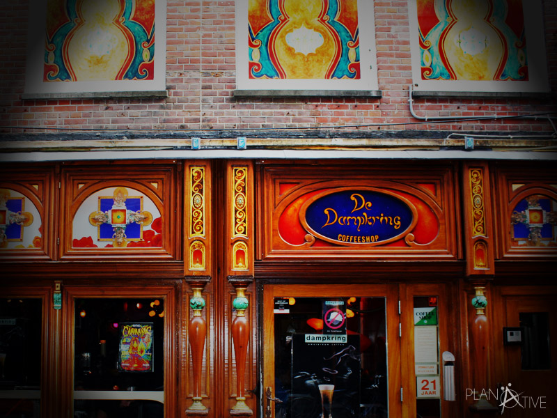 De Dampkring, einer der bekanntesten Coffeeshops in Amsterdam und Drehort für Ocean's 12
