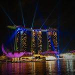 Singapurs tägliche Gratis Lasershow am Marina Bay Sands von der Esplanade aus (copyright: planätive)