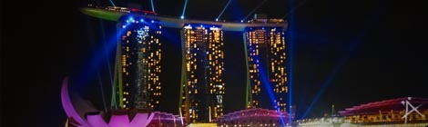 Tägliche Gratis Lasershow am Marina Bay Sands (copyright: planätive)