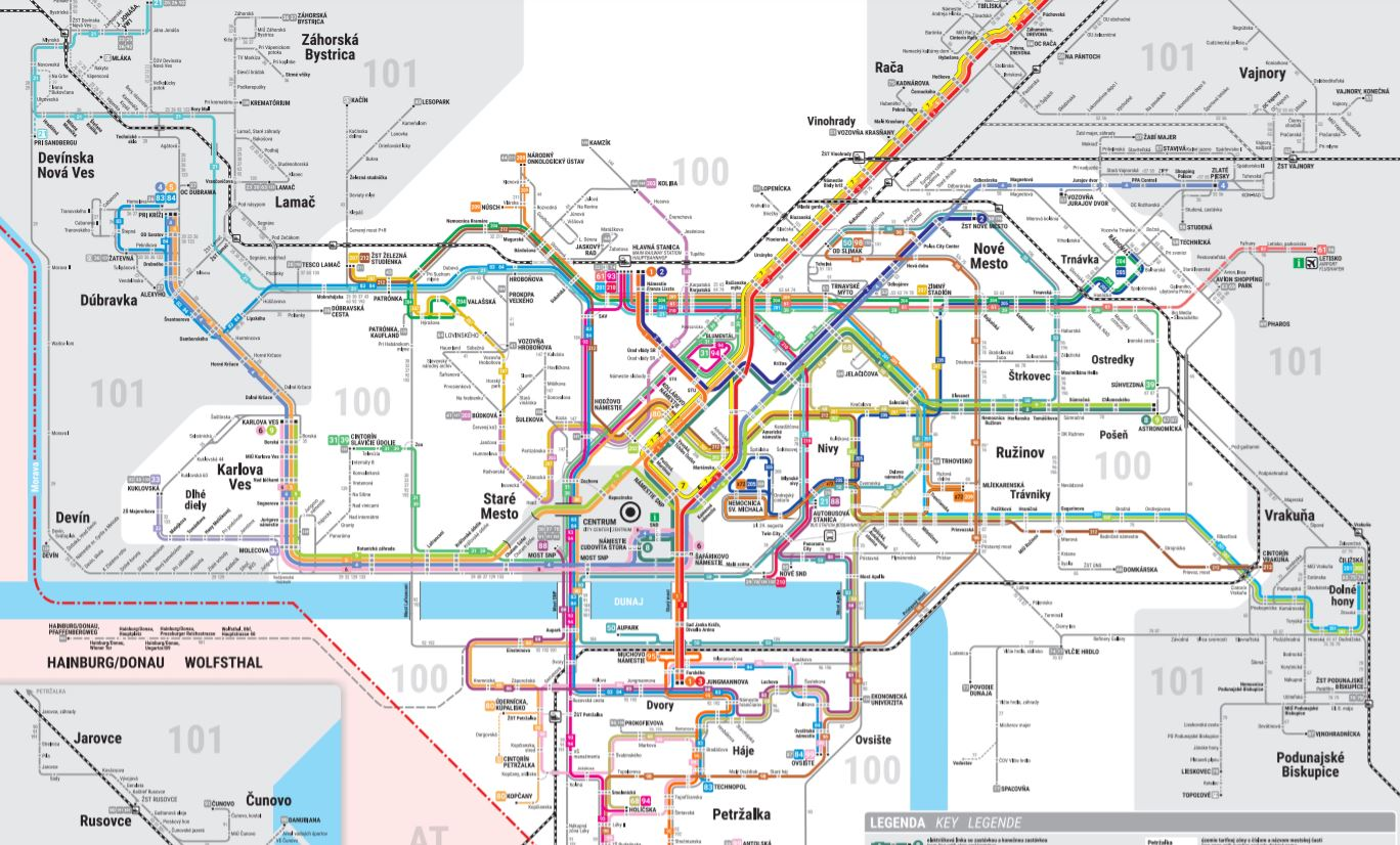 Bratislava-Liniennetz-Statplan-zum gratis download