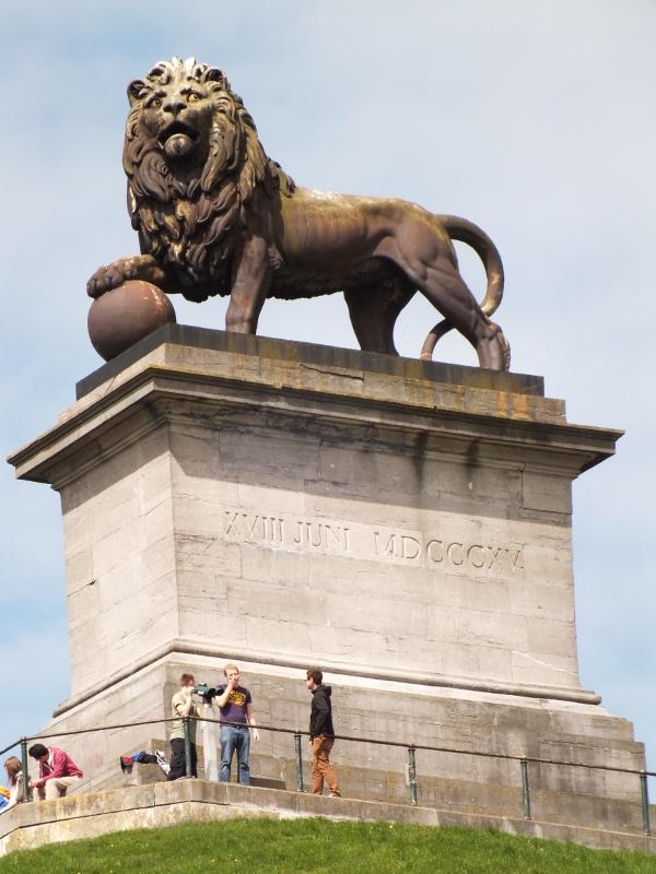 Butte De Lion oder Der Löwenhügel von Waterloo als Andenken an die Schlacht Napoleons
