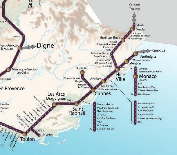 Netzplan Cote dAzur (c) http://maps-nice.com/