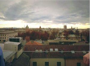 Rooftop View im Vorhölzer Café der TU München