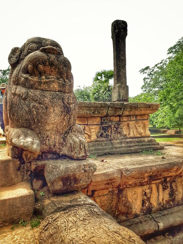 Audience Hall im königlichen Palast von Polonnaruwa - (c) planative.net