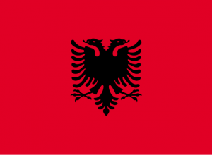 Albanien Flagge zum Download auf planative.net