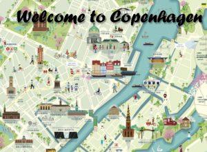 Kopenhagen Stadtplan mit Sehenswürdigkeiten