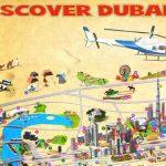 Dubai Stadtplan / Tourist Map mit Sehenswürdigkeiten, (c) www.somartin.com