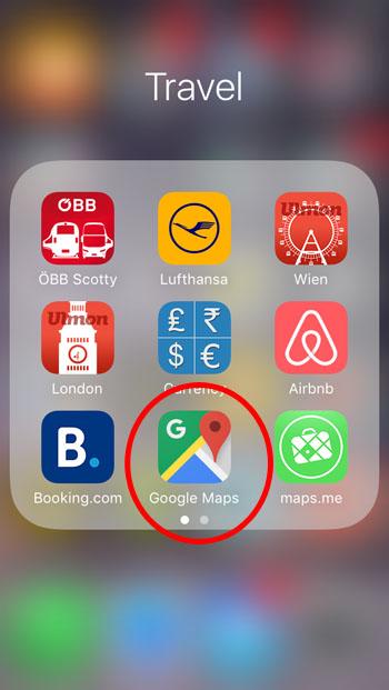 Wie nutze ich Google Maps Offline? - Step 1
