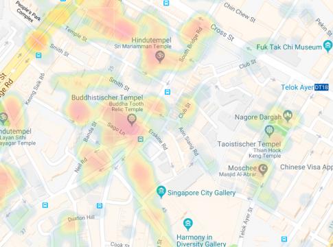 Heat Maps auf Kayak für deinen nächsten Urlaub erstellen