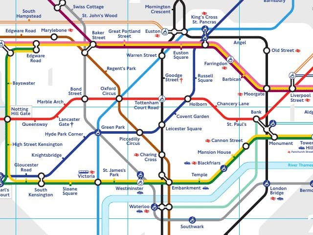 London U-Bahn Plan, (c) www.tfl.gov.uk