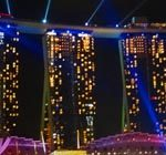 Gratis Laser Show in Singapur