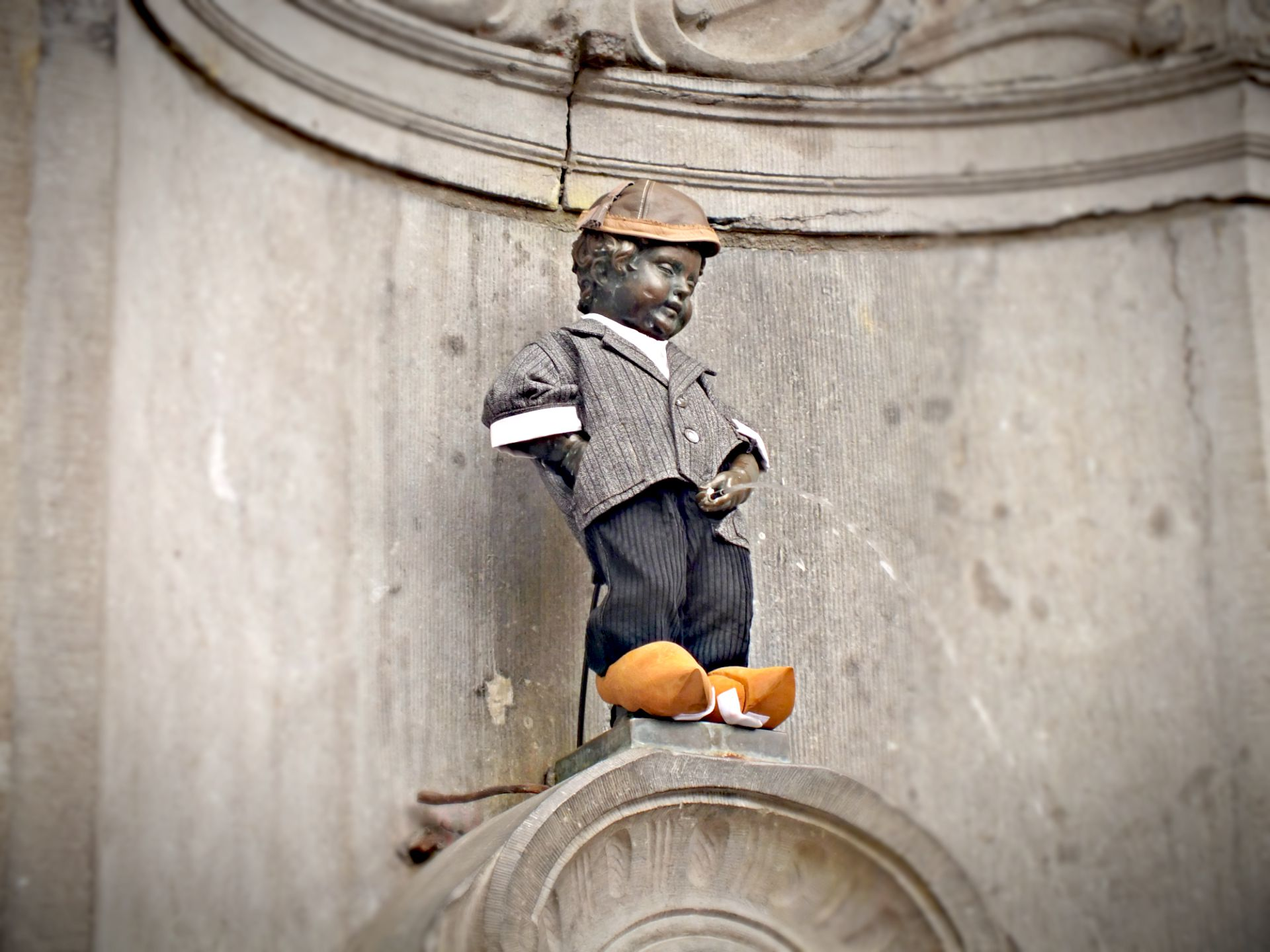 Maenneken Pis in Brüssel, Belgien