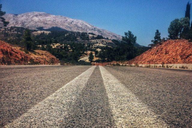 Lonely Roads in Rhodes, Greece