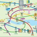 Singapore U-Bahn Plan mit Sehenswürdigkeiten
