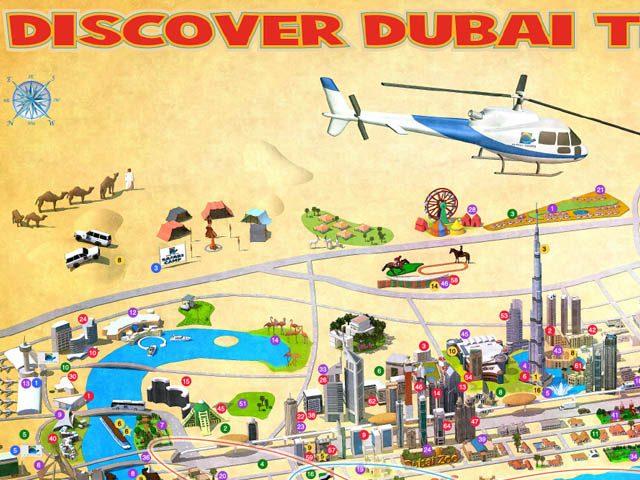 Dubai Stadtplan Sehenswürdigkeiten und Metro Netzplan zum Download