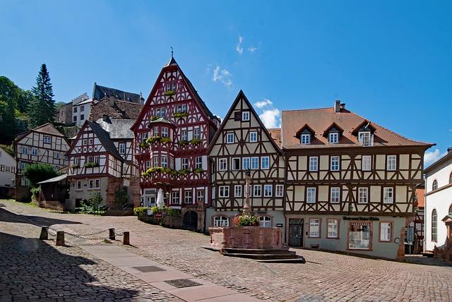 Marktplatz vn Miltenberg - einer der schönsten Orte Bayerns laut Planative. Bild von Lapping / Pixabay