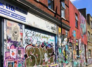 Urban Art an den Straßen entlang der Brick Lane